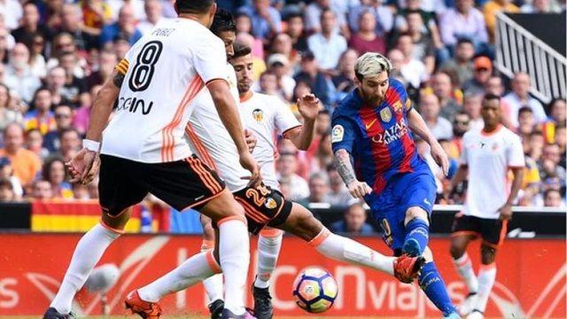 Cuplikan Gol Valencia vs Barcelona 2-3 (Liga Spanyol)