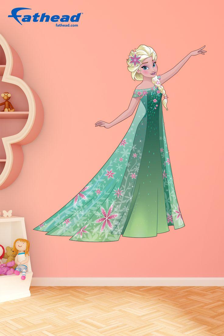 Disney frozen wall stencils - Elsa Frozen Fever