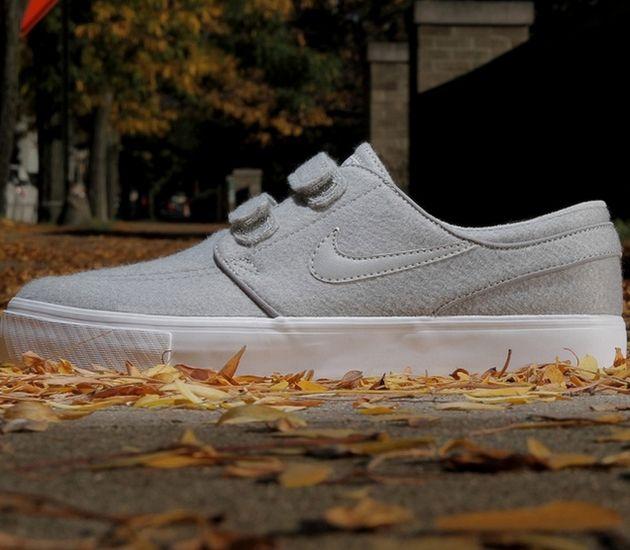 Nike SB Stefan Janoski Velcro – Medium Grey / White