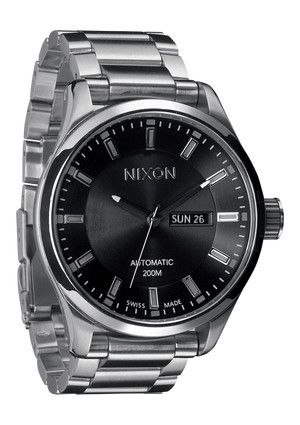 Nixon - The Automatic II in Black $1200.00: Automat Ii, Men Nixon, Nixon Watches, Clothing Accessories, Black Watches, Nixon Automat, Bracelets Watches, Automat Watches, Men Watches
