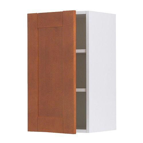 AKURUM Wall cabinet, birch, Ädel medium brown birch effect Ädel medium brown 12x30