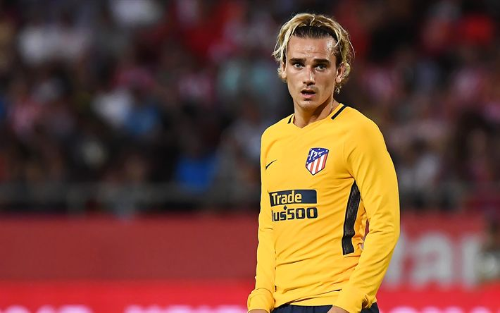 Download wallpapers 4k, Antoine Griezmann, soccer, football stars, Atletico Madrid, La Liga, match, footballers