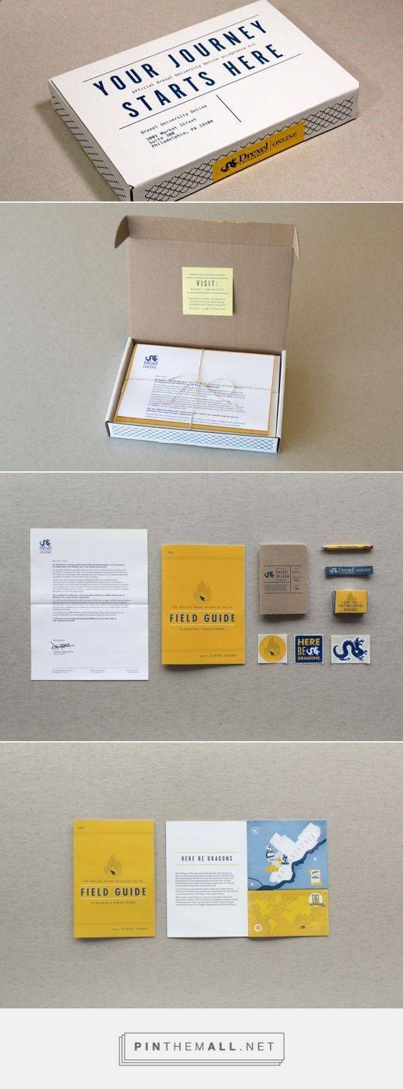 Drexel University's online programs wanted to foster a sense of Drexel school spirit and instill a sense of community to the online learners by sending out an engaging Welcome Kit to all new students.: