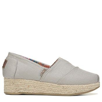 Skechers Women's Bobs High Jinx Memory Foam Espadrille Shoes (Taupe)