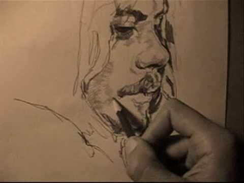 barış akarsu leyla karakalem portre portrait art