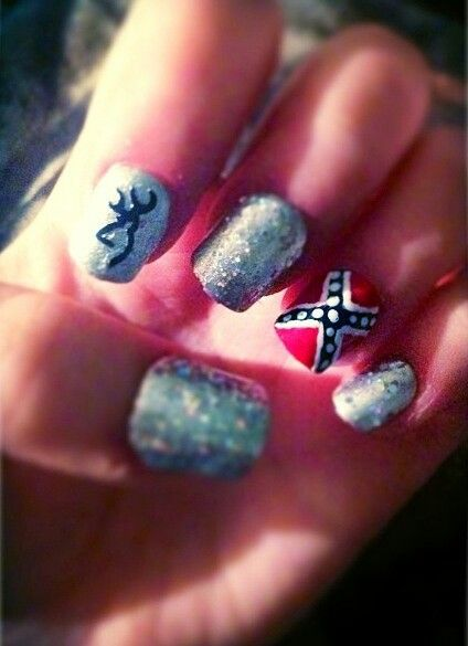 Rebel Flag Nail Design