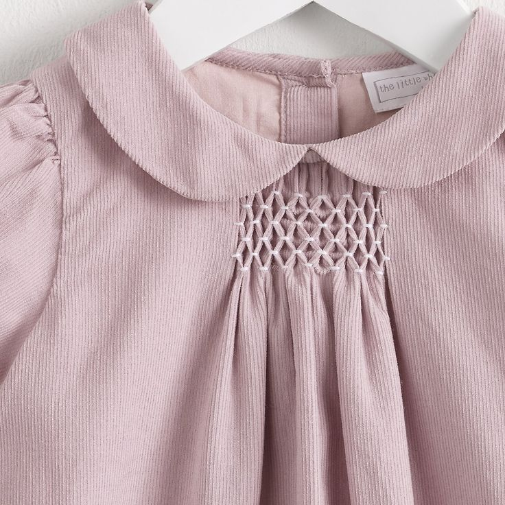 Smocked Pink Corduroy Dress | The White Company                                                                                                                                                      More