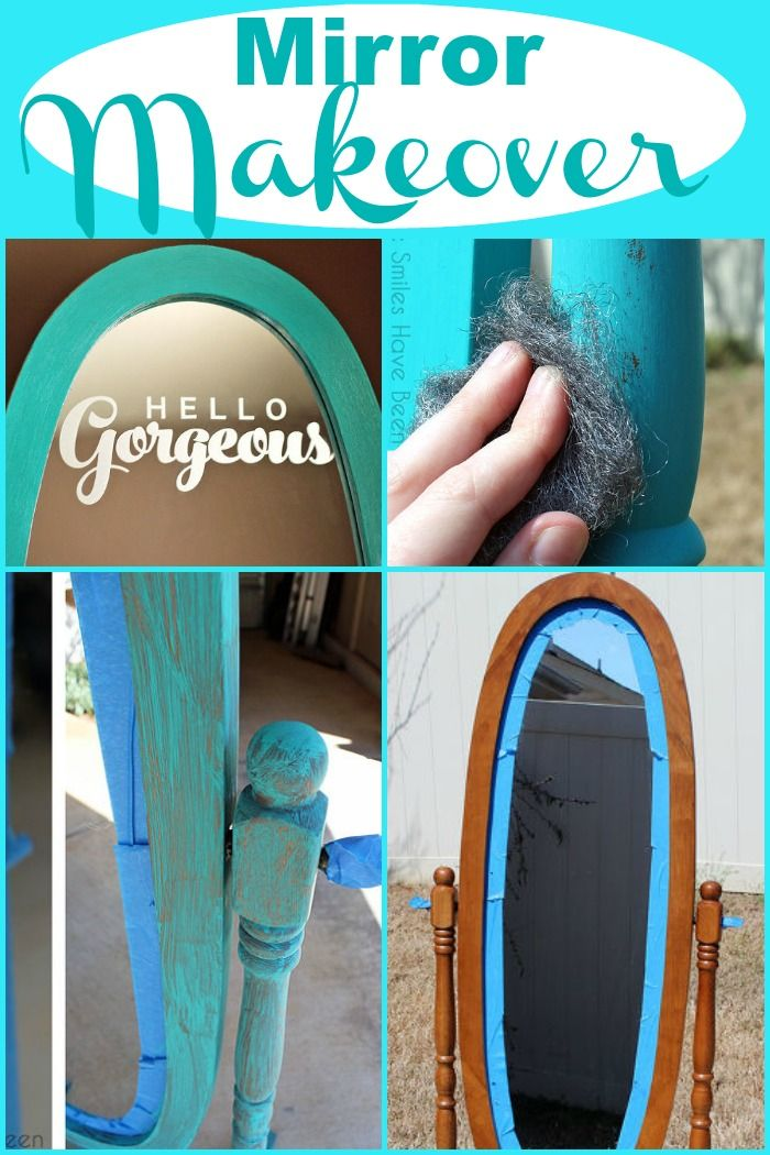 A well-loved stand-up mirror gets a wonderful makeover