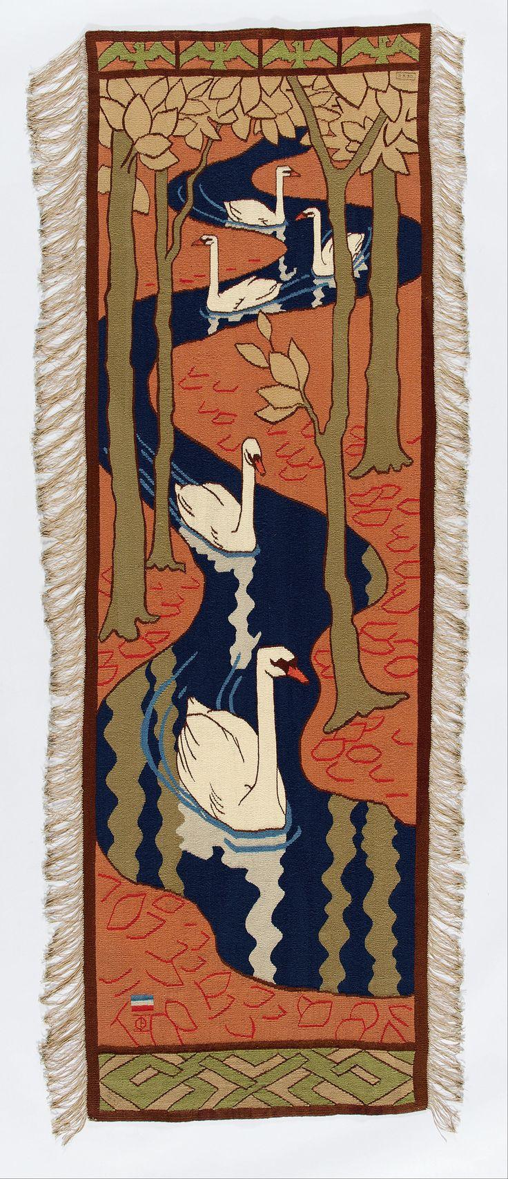 Otto Eckmann - makata z łabędziami 1896