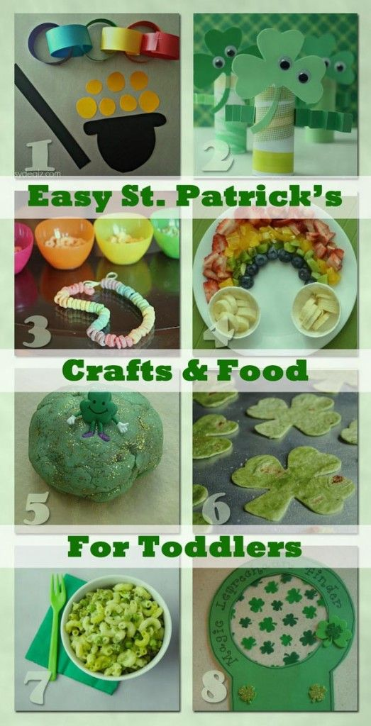 Easy St. Patrick's Themed Crafts & Food for Toddlers -