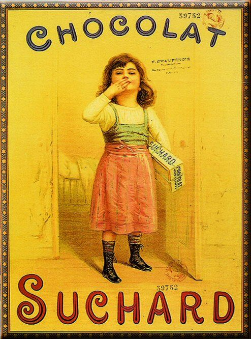 From the very early 1900's, a Swiss Suchard poster for the French market.