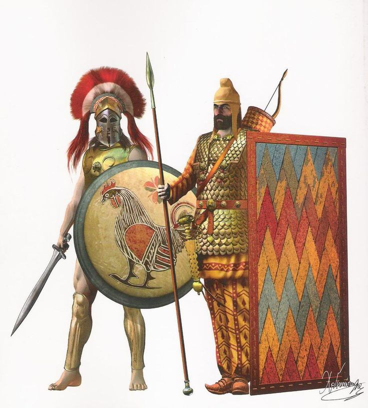 Greek hoplite and Persian Immortal, V Cent. BC