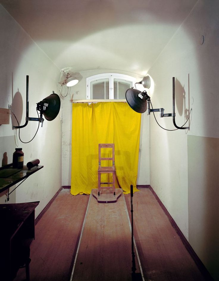 An interrogation room at a Stasi prison in Potsdam.