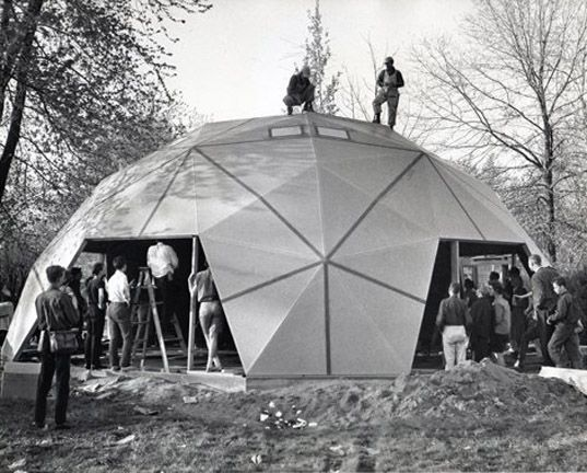 Bucky's dome home in Carbondale, Ill. Designed and patented by Alvin Miller of Pease Domes