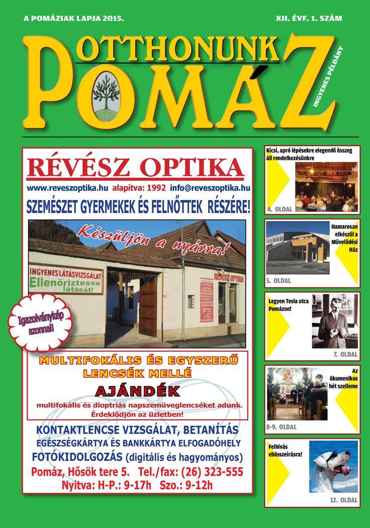 Megjelent az Otthonunk Pomáz - XII. ÉVF. 1. száma