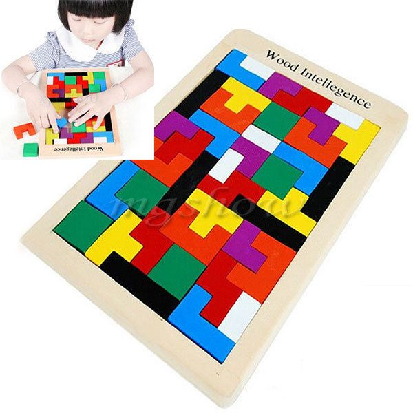 Tetris Montessori Children's Kids Educational Baby Toddler Wooden Puzzle Toy #Unbranded