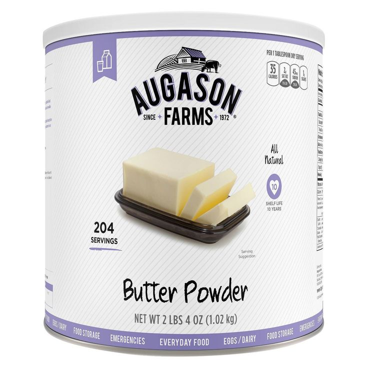 Food And Drink: Augason Farms Mre Emergency Preparation Food Butter Powder 36 Oz Prepper Survive BUY IT NOW ONLY: $21.75