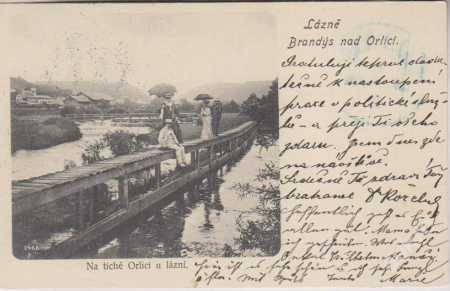 Lázně Brandýs nad Orlicí, na tiché Orlici u lázní, (5989781694) - Aukro - největší obchodní portál