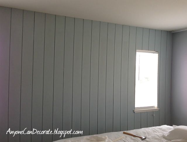 B.: painted wood paneling, before/after- wood paneling won't be a death nell in buying a house with it.