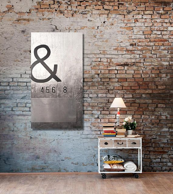Never Give Up Metal Wall Art Contemporary Black And White 24 X 48 Metal Art Wall Decor Wall Decor Industrial Wall Art Fine Art Paint Industrial Wall Art Metal Wall