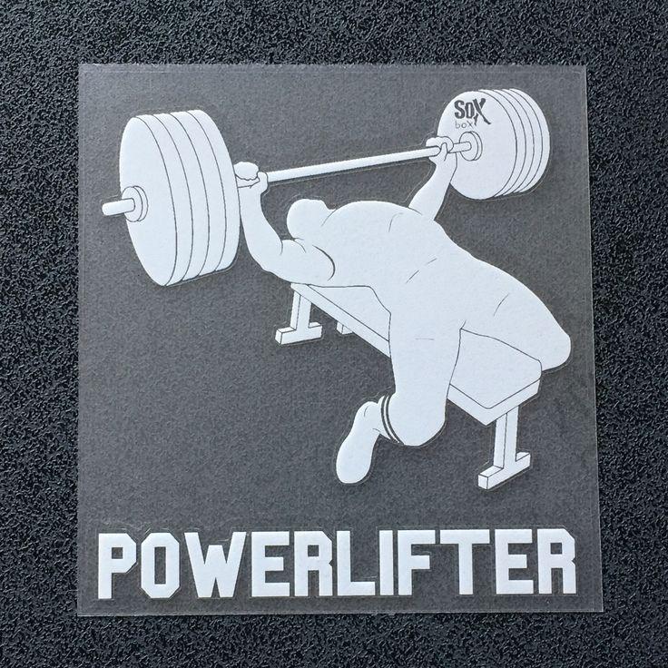 Powerlifter (Man Bench) Decal