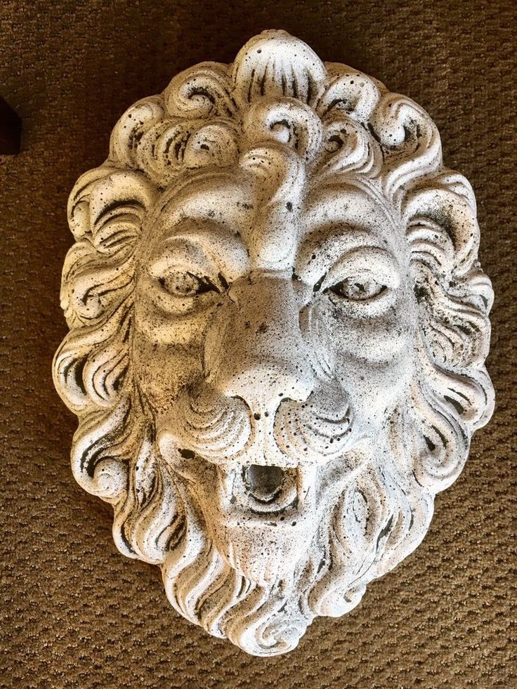 "Magnificent Antique Stoneware Lion Fountain Decorative Object Art 19"" x 14"" Wide #unbranded"