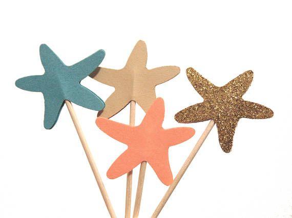 Stelle marine Cupcake Toppers sotto le decorazioni festa del