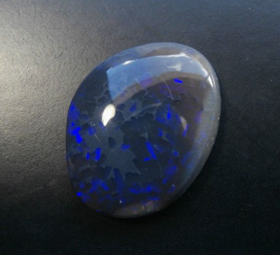 Sparkly Blue on Black Opal Cabochon from by AllAussieOpals on Etsy