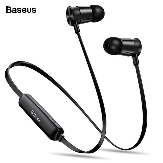 Baseus S07 Wireless Earphone Csr Bluetooth Headphones For Phone Iphone Xiaomi Mi Ipx5 Wireless Headset Stereo Earpiece Earbuds Review Wireless Headset Wireless Headphones Headphones