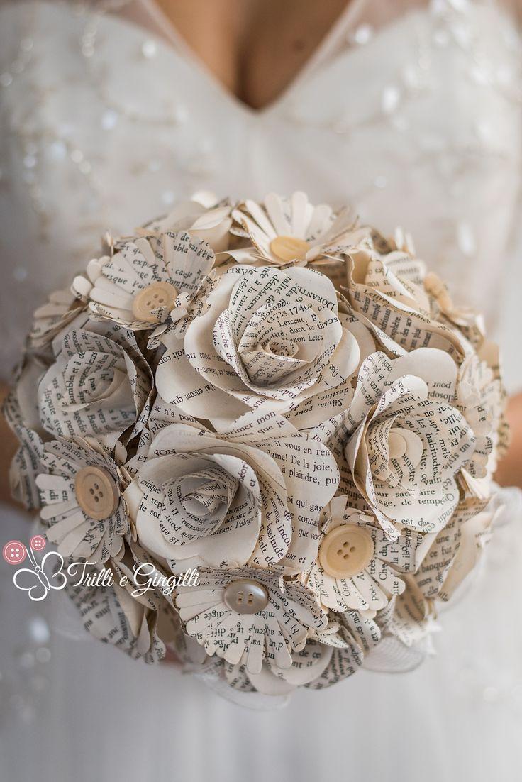 bouquet alternativo con fiori di carta - trilli e gingilli