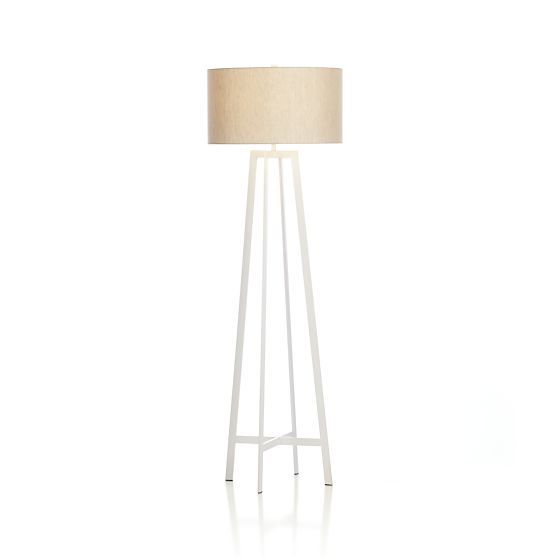 Castillo White Floor Lamp in Floor Lamps | Crate and Barrel