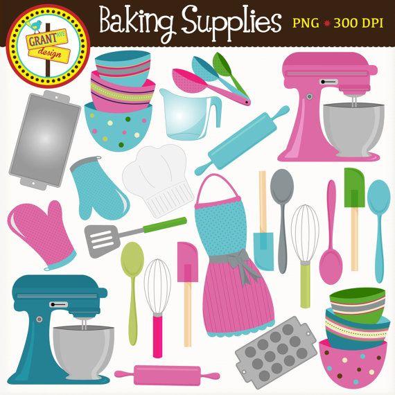 Kitchen Shears In Baking: Baking Supplies Clipart