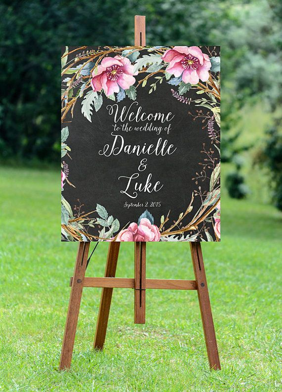 printable wedding sign welcome wedding sign by OurFriendsEclectic