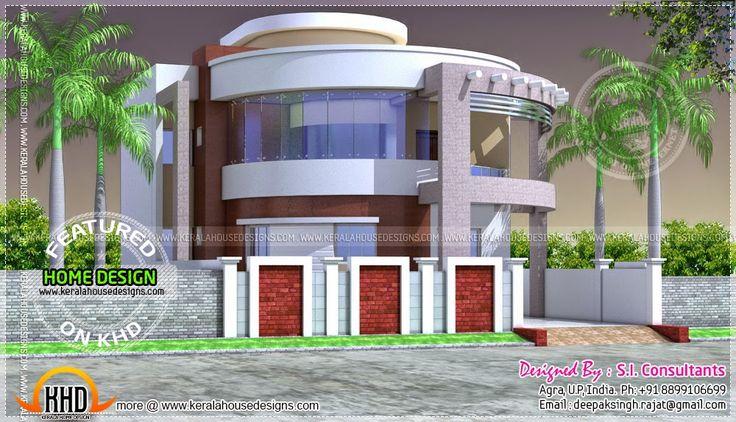 Kerala round house plan Keralahousedesigns.com