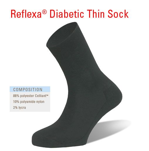 Reflexa Diabetic Thin Sock