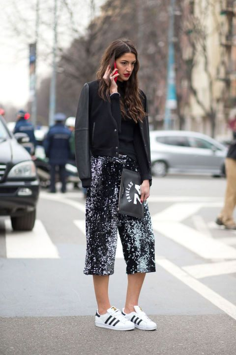 Culottes @ Milan Fashion Week Street Style Fall 2015