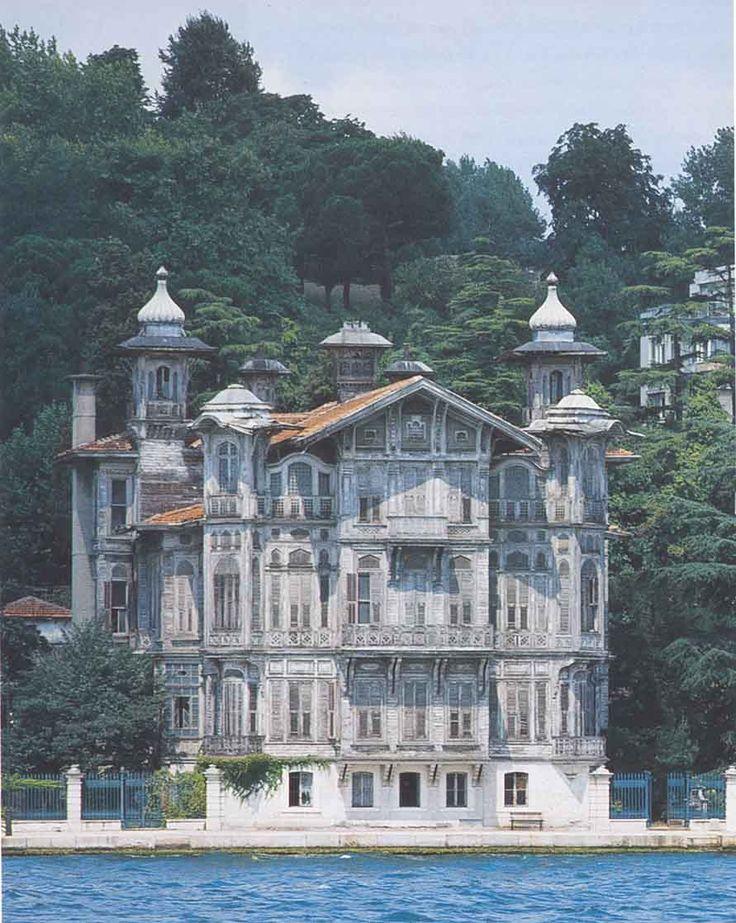 Places I have been - Nice architecture along Bosphorus Yali, Istanbul, Turkey