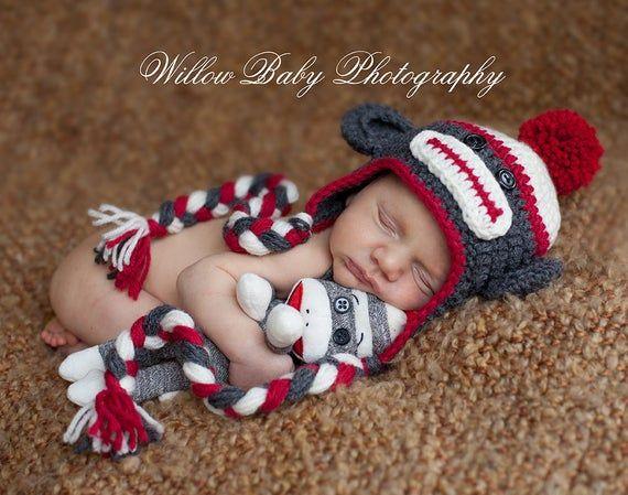 Baby Hat Baby Monkey Hat Baby Boy Hat Baby Girl Hat Etsy In 2021 Baby Boy Hats Baby Girl Hats Baby Monkey