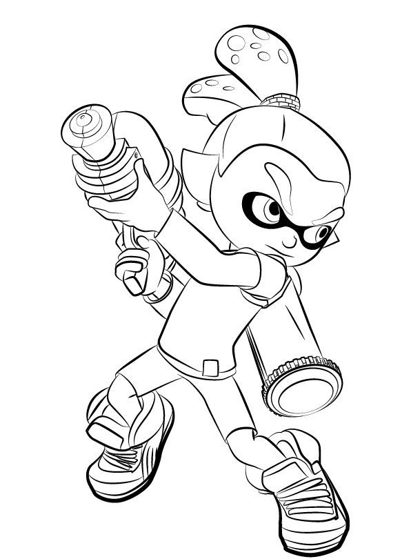 Free Splatoon Coloring Pages Best Coloring Pages For Kids For