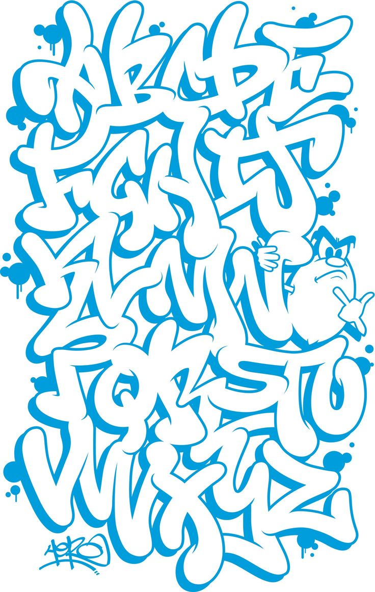 Graffiti bubble letters nice style for throws