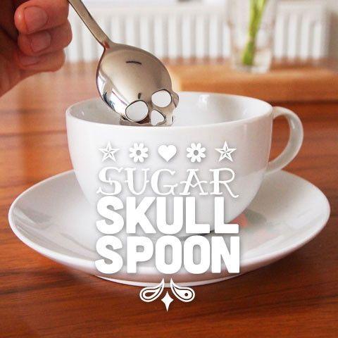 Sugar Skull Spoon - Sugar skull spoon