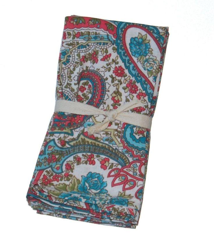 April Cornell Paisley Floral 100% Cotton Napkins NEW NWT #AprilCornell