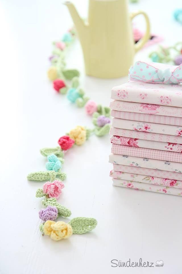 Tilda Fabric,crochet garland