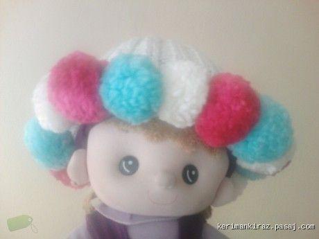 Renkli Ponponlu şapka Örgü Bere Ve şapka Modeli   Örgü    Örgü Bere Ve şapka Modeli   Modelleri
