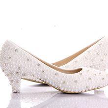 2015 custom make grote maat kleine hak bruids schoenen witte parel lage hakken schoenen celebrity party prom dansen schoenen(China (Mainland))