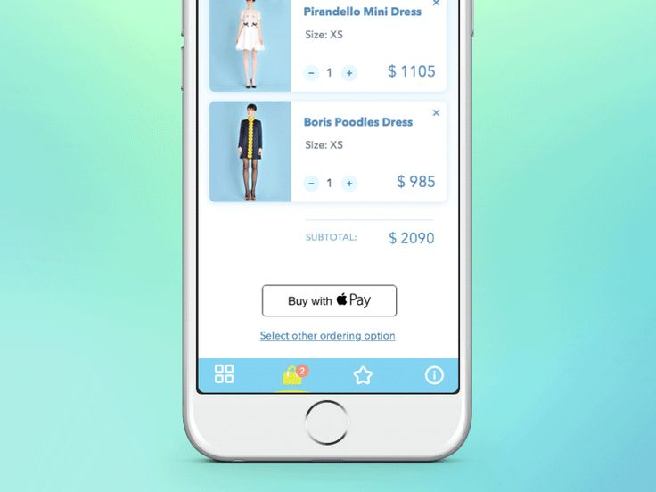 Fashion app for Apple Pay