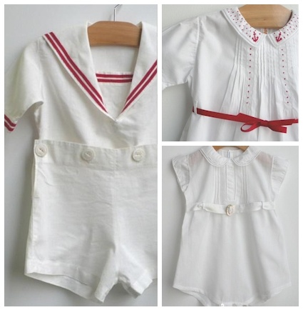 vintage baby clothes sewing