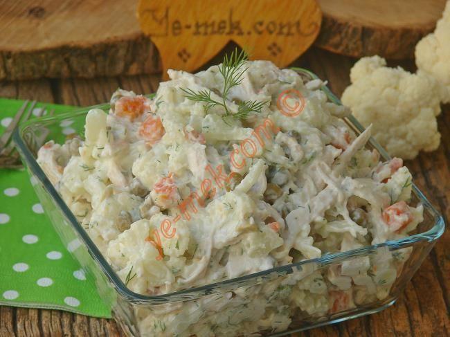 Karnabahar ile yapabileceğiniz hafif, lezzetli, sağlıklı ve bir o kadar doyurucu bir salata tarifi...