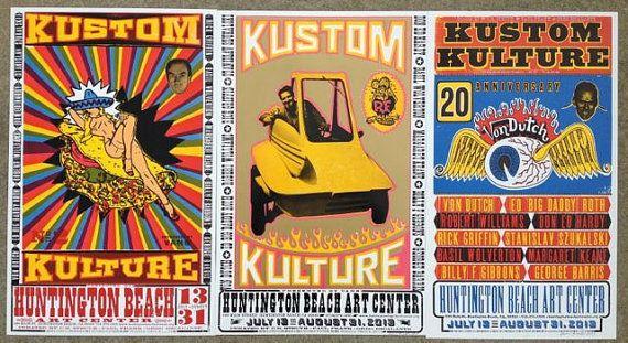 3 Kustom Kulture II letterpress exhibit posters by ChurchofType, $300.00