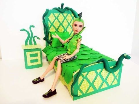 How to make a Deuce Gorgon Doll Bed Tutorial/ Monster High
